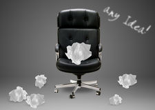 Black armchair Stock Images
