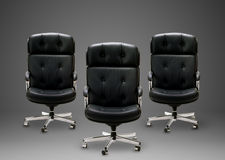 Black armchair Royalty Free Stock Images