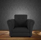Black armchair. Royalty Free Stock Photos