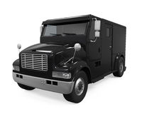 Black Armored Truck Isolated. On white background. 3D render Stock Image