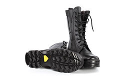 Black army boots Stock Photo