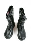Black army boots Stock Image