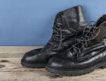 Black army boots Stock Photography