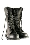 Black army shoes Royalty Free Stock Images