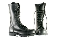 Black army shoes stock images