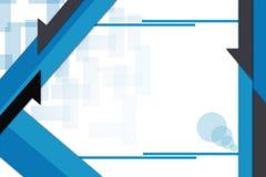 Black arrow on blue line, abstrack background Stock Photo