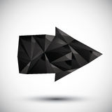 Black arrow geometric icon made in 3d modern style Stock Images
