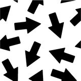 Black Arrow Pattern Stock Photography