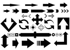 Black arrows icons royalty free illustration