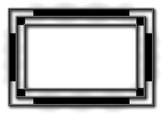 Black Art Deco Frame Background Stock Images