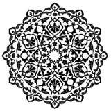 Black artistic ottoman pattern series ninety one Stock Photography