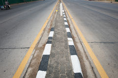 Black asphalt concrete road Stock Images