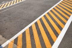 Black asphalt parking lot stock photography