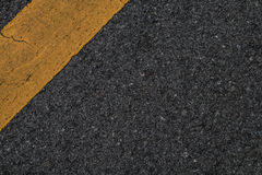 Black asphalt road texture line yellow. Royalty Free Stock Images