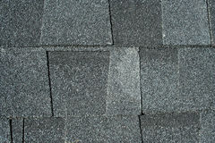 Black asphalt roofing shingles background Royalty Free Stock Image