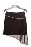 Black asymmetrical mini skirt with zipper Stock Images