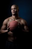 Black athlete Royalty Free Stock Image