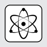 Black atom icon. Vector illustration stock illustration