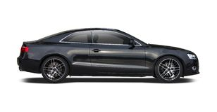 Black Audi A5 coupe. Isolated on white Stock Photography