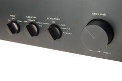 Black audio amplifier Royalty Free Stock Image