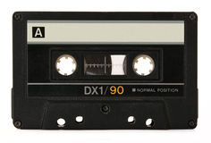 Black audio cassette Royalty Free Stock Photography