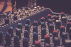 Black Audio Mixer Stock Photos