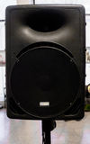 Black Audio Speaker Background, Front View. Stock Photos