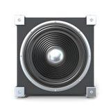 Black audio speaker Stock Image