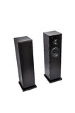 Black audio speakers Stock Image