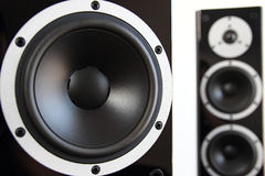 Black audio speakers Royalty Free Stock Images