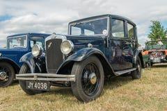 A black Austion Ten Classic car Stock Images