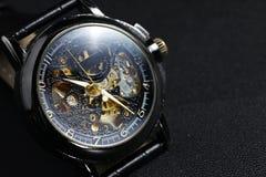 Black automatic self winding wristwatch