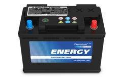 Black automobile battery Royalty Free Stock Photos