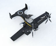 Black autonomous flying drone taxi on the ground Stock Photography