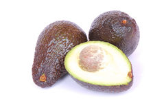 Black Avocados Stock Photo