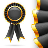 Black award ribbon Royalty Free Stock Photos