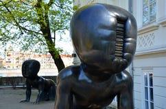 Black babies, Prague Royalty Free Stock Images