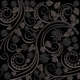 Black background. With floral motifs Royalty Free Stock Images