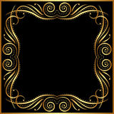 Black background. With gold border Stock Image