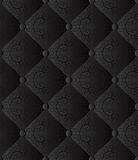 Black background. Black seamless background - quilted fabric Royalty Free Stock Photography