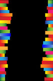 Black background. With bright stripes. Vector illustration Royalty Free Stock Photo