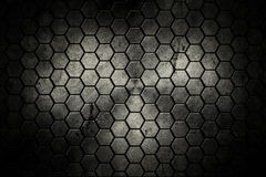 Black background. Abstract background old rusty hex struck Royalty Free Stock Photography