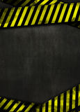 Black Background And Yellow Tape Royalty Free Stock Photo