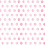 Black Background with blue watercolor Polka Dot pattern. Polka dot fabric. Retro pattern. Casual stylish black light stock photography