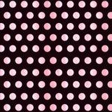 Black Background with blue watercolor Polka Dot pattern. Polka dot fabric. Retro pattern. Casual stylish dark brown stock illustration