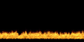 Black background with bottom fire stripe. Black background with bottom fire stripe 3D illustration Stock Photo