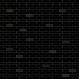 Black background with bricks. Vector illustration Royalty Free Stock Photos