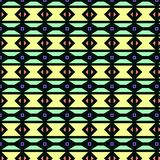 Black background with colorful geometrical figures. Patterns. Editable vector. negro,verde rosa Stock Image