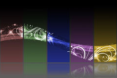 Black background with colorful lines Royalty Free Stock Photos