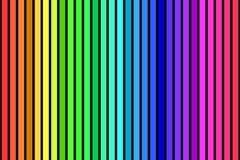 Rainbow stripes background. Black Background with colorful rainbow stripes Stock Photo